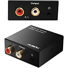 Musou DAC de Audio Convertidor de Digital a Analógico con Cable Coaxial/Óptica a RCA Toslink y SPDIF L/ R Transformador de HDMI Audio para PS3 4 Xbox Android Box AppleTV Blu-ray Home Cine