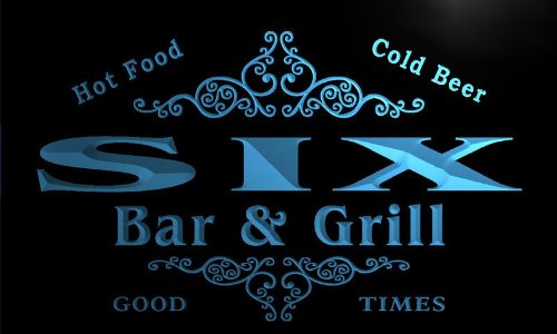 ADV PRO u41732-b SIX Family Name Bar & Grill Home Decor Neon Light Sign Barlicht Neonlicht Lichtwerbung