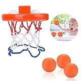 JBSON Badespielzeug, Spaß Bad Basketballkorb für Kinder & Kleinkind mit 3 Bällen, Badewannen Schießspiel für kleine Jungen & Mädchen