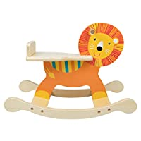 LOMOS wooden rocking horse for girls and boys