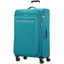 American Tourister Airbeat - Spinner 80/30 Expandable Equipaje de Mano, 80 cm, 112 Liters, Azul (Sky Blue)