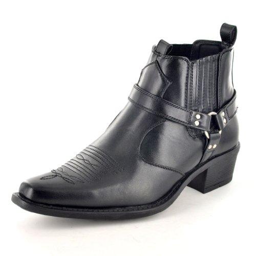 Schwarz Herren Cowboy-Stiefel Größe EU (Schwarze Männer Stiefel Cowboy)