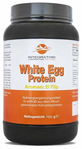 WHITE EGG PROTEIN EI FLIP GESCHMACK - Nahrungsergänzungsmittel Es enthält aus dem Album gewonnene Hühnereiproteine, 700g