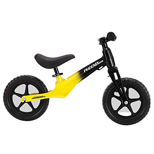 YUMEIGE Laufräder LLaufräder Anfänger Schaumrad, Kinder laufrad Der integrierte Rahmen aus Magnesiumlegierung ist leicht und stoßfest.  Laufrad Pink, Rot, Gelb (Color : Yellow) - Trittbrett Lager