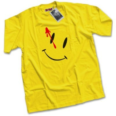 Watchmen Style Acid House Smiley Men's Yellow T-Shirt - S to XXL