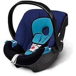Cybex Aton - Silla de coche, Grupo 0+ (0-13 kg, desde nacimiento hasta 18 meses), Colección 2015, color azul marino