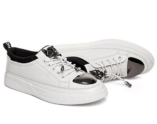 Version Pers枚nlichkeit Schuhe White zu Schuhe Herrenmode der Sportschuhe koreanische Eisenblech der Flut WZG Tendenz niedrige Neue M盲nner helfen TCYqPY