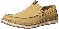 Skechers Mens Melson Velerio Slip-on Loafer Tan 8 D(M) US
