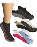 4 Paar Kurzform Sneakers mit Frotteesohle und Hochferse
