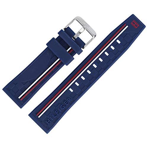 Tommy Hilfiger Uhrenarmband 22mm Kunststoff Blau - 679302205
