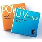 Meymoon cpl- & UV-Filter Set 58mm Polfilter zirkular &-UV-, z. B. für 1D Mark IV/5D/7D/50D/60D, 450D, 500D, 550D, 1000D; Sony Alpha A200A230A290A300A350, A330, A380A390A450A500, A550, A560, A580, A850, A900, DSC, H50und Nikon D3, D60D90, D300S, D700, D400D3000D3100D5000D7000, Olympus, E-5E-30430,,,, e-450E-520E-620GP; Pentax K10D/K20D/K200D, k-m-k- R, figure-k-12K-x, Fuji, HS10S100FS, S9100, Samsung GX–20, GX–30,...