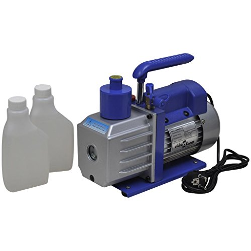 vidaXL 100 L/min Vakuumpumpe Pumpe 1-stufig Alu Unterdruckpumpe Klimaanlagen