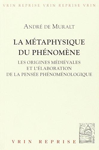 La métaphysique du phénomène