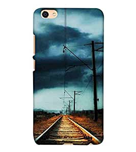 For Vivo Y55L vintage railroad, railroad Designer Printed High Quality Smooth Matte Protective Mobile Case Back Pouch Cover by APEX