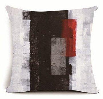 babyssj Abstrakte Kunst Schwarz, Grau und Rot 45,7x 45,7cm Kissenbezüge 1818 (Abstrakte Kunst Rot)