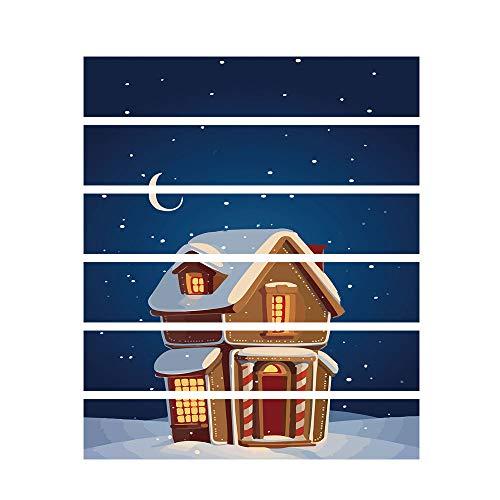 Yallylunn Christmas 3D Simulation Stair Stickers Waterproof Wall Stickers DIY Home DéCor Einfaches Und Schnelles Anbringen Bringen Sie Farbe Und Leben In Ihr Zimmer 18 * 100Cm/6Pcs