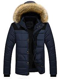 OdeJoy Männer Draussen Warm Winter Dick Jacke Große Größe Pelz mit Kapuze Mantel  Jacke Baumwollkleidung Persönlichkeit 03f2e99b41