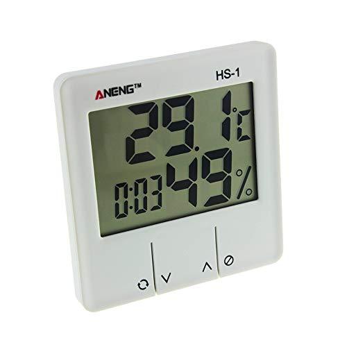 Wokee digitales Thermo-Hygrometer, Indoor Zimmer LCD Elektronisches Temperaturfeuchtigkeitsmesser Digital Thermometer Alarm 102x93x22mm Feuchtigkeit 1{47190ebc634787003fad9968797702a6cc66633e5e64e5927ddc9a8168ad419d} RH