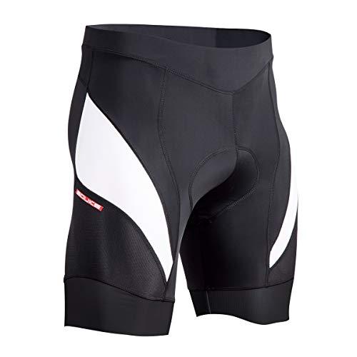 Souke Sports Herren 4D Gepolsterte Radlerhose Atmungsaktiv Schnelltrocknend Fahrradhose,XL