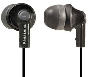 Panasonic RP-HJE170E-K In-Ear-Kopfhörer (1,2 m Kabellänge, 3,5 mm Vergoldeter Mini Stecker inkl. 3 Adapter-S/M/L) schwarz