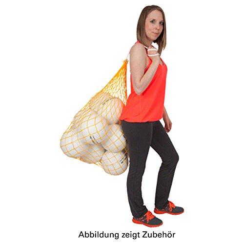 Ballnetz Balltragenetz Balltasche für 9 Bälle Fußbälle Handbälle, GELB