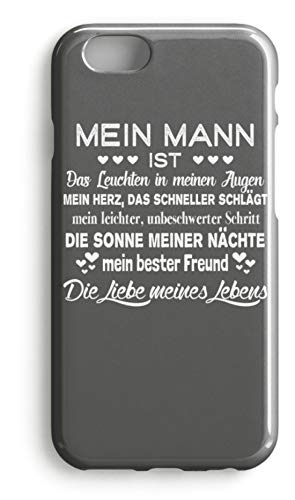 shirt-o-magic Handyhülle Ehemann: Liebe meines Lebens - Case -iPhone 7 Plus-Mausgrau