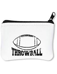 Throwball Football Billetera con Cremallera Monedero Caratera