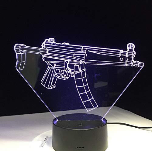 e Gewehr Battle Royale 3D Licht 7 Farben Ändern Für Schlafzimmer Wohnkultur Spiel Fan Chrismas Geschenk ()
