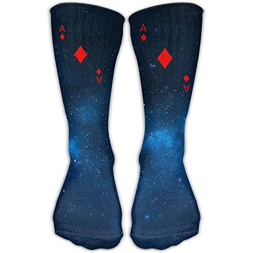 Ace Of Diamonds Best High Performance Athletic Running Casual Socks For Men & Women (Halloween Running Aces)