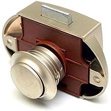 Premium Push Lock Schlösser - 5er Set - silber (vernickelt)