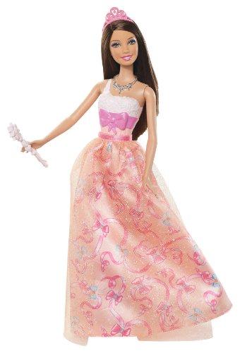 Barbie Prinzessin Teresa orange Kleid Puppe-2012Version