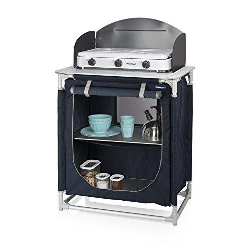 Cocina de camping Valencia Campart Travel KI-0752 - Con paravientos - Bolsa de almacenamiento incluida
