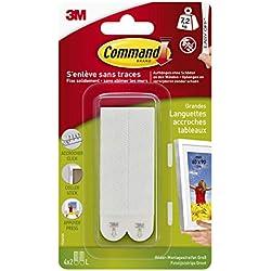 Command Languettes pour Accrochage de Tableaux, 4 x 2 Languettes Larges, 7,2kg