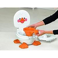 Fisher-Price T6211 Ducky Töpfchen und Fußbank mitwachsender Toilettentrainer inkl. Toilettensitz für Kleinkinder