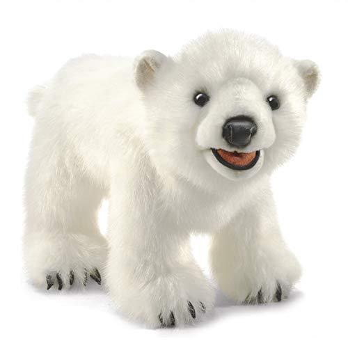 Folkmanis Dedo marioneta Oso Polar Cachorro