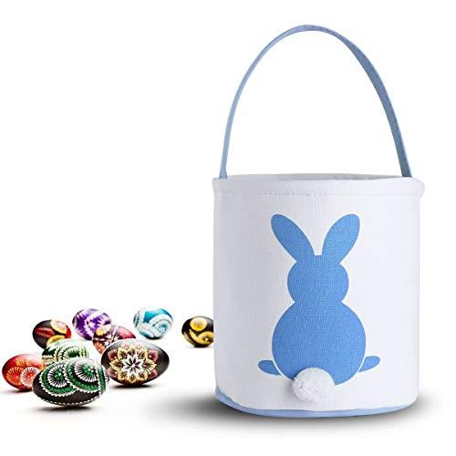 b Ostern Körbe personalisierte mit Hase DIY Ostereier Deko Kaninchen hängen Ornament Ostern Spielzeug für Kinder Mädchen Geschenk tragen Eier Tasche (Blau) ()