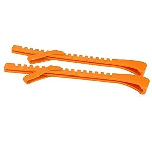 REFURBISHHOUSE 1 Paar Kunststoff Eishockey Schlittschuh Klinge Schutz Abdeckungen Einstellbar (Schwarz)