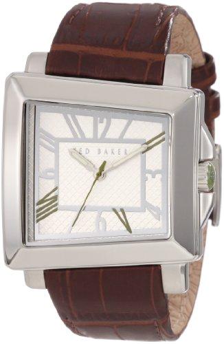 Ted Baker TE1073 - Reloj analógico de cuarzo para hombre con correa de piel, color marrón