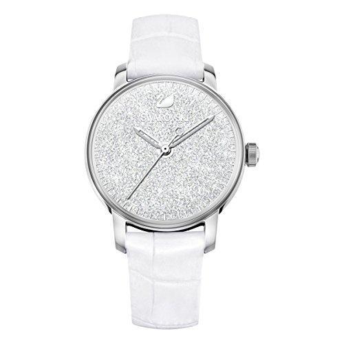 Swarovski orologio crystalline hours, bianco