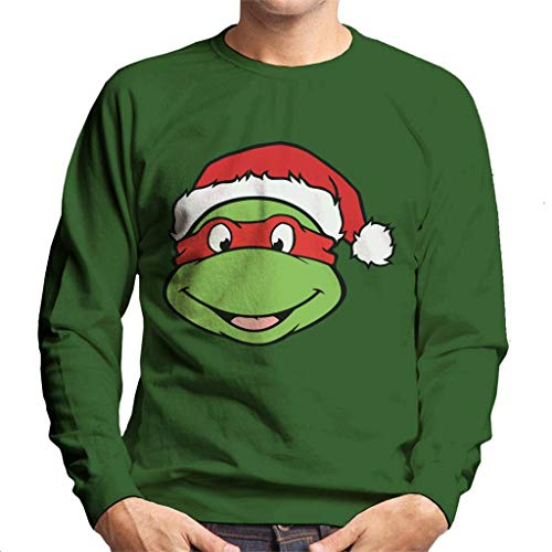 Teenage Mutant Ninja Turtles Raphael Christmas Hat Men's Sweatshirt