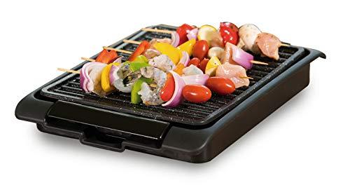 BEST DIRECT Starlyf Smokefree Grill Gitter Nicht Rauchen Gegrilltes Fleisch und Gemüse Set mit Extra Teller zum Kochen Küche Barbecue BBQ