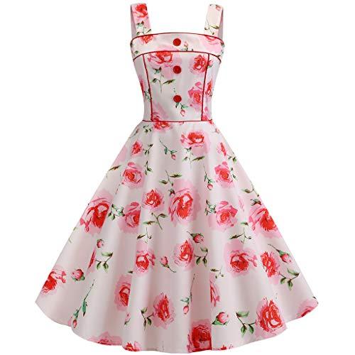 AIni Damen Vintage ÄRmelloses Elegant 50er Jahre Petticoat Kleider Gepunkte Rockabilly Kleider Cocktailkleider Partykleid Ballkleid Festkleid - Nationalmannschaft Trikot Italienische