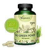 Green Power BIO Vegavero | Hierba de Trigo + Hierba de Cebada | Rico en Proteína Vegana +...