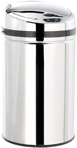 infactory Abfalleimer mit Bewegungssensor, 30 Liter