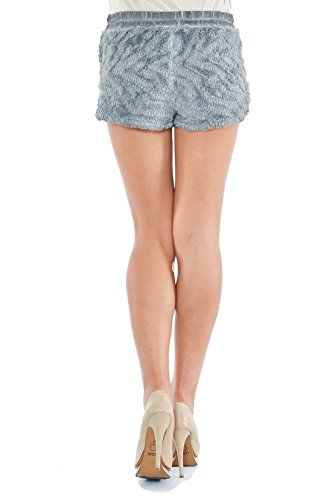 Laura Moretti - Shorts aus Pelzimitat Grau