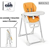 CAM PAPPANANNA Baby HIGH Chair-Made In ITALY-C233 Arancio(Orange)