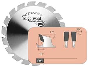 Bayer Wald–HM kreissaegeblatt–Ø 350mm x 3,5mm x 30mm | Denti piatti con fase (24denti) | Accessori di: 2/7/42+ 2/10/60|nagelfest estrema per l' utilizzo nei cantieri edili
