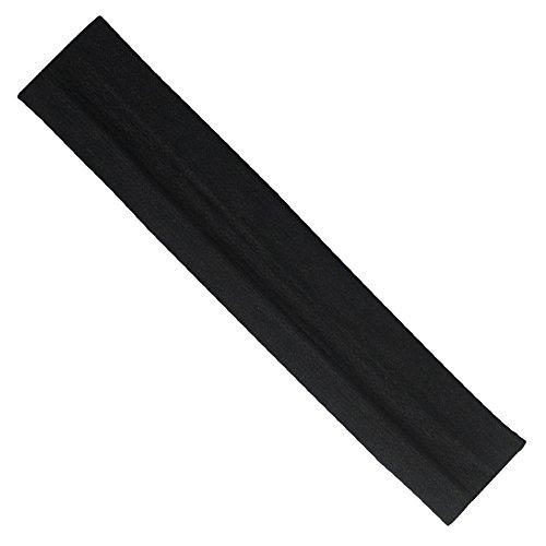 ar Gürtel Jogging Sweat Zone mit rutschsicheren Schweiß Stirnband Sport Schal für Sport Running Yoga, schwarz ()