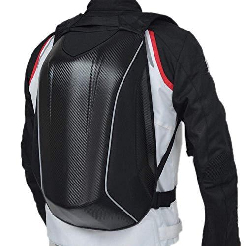 Lelestar Zaino da Motocicletta, in Fibra di Carbonio, con Guscio Esterno Rigido, Impermeabile, Ideale per Ciclismo, Sport all'aperto, Zaino da 30