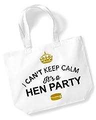 Idea Regalo - Addio al nubilato, addio al nubilato, Hen Party bag, addio al nubilato regali, regali per gli ospiti, idee per sposa, presente, addio al nubilato, borsa, souvenir, Team Bride, Tessuto, White, large